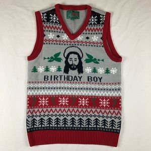 Other - Birthday Boy Jesus ugly Christmas sweater vest S